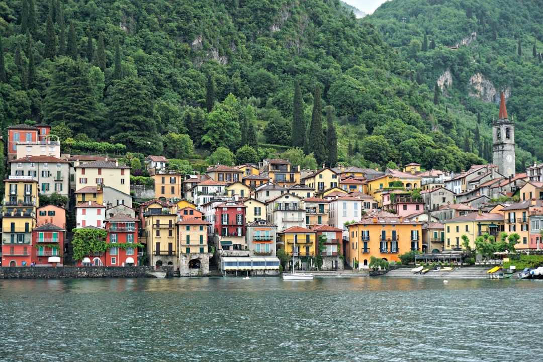 Arriving by ferry to Varenna