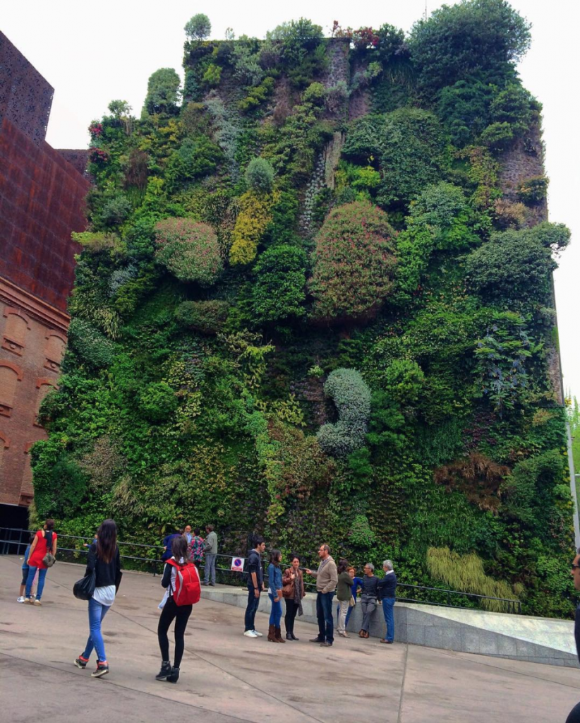 vertical garden madrid spain